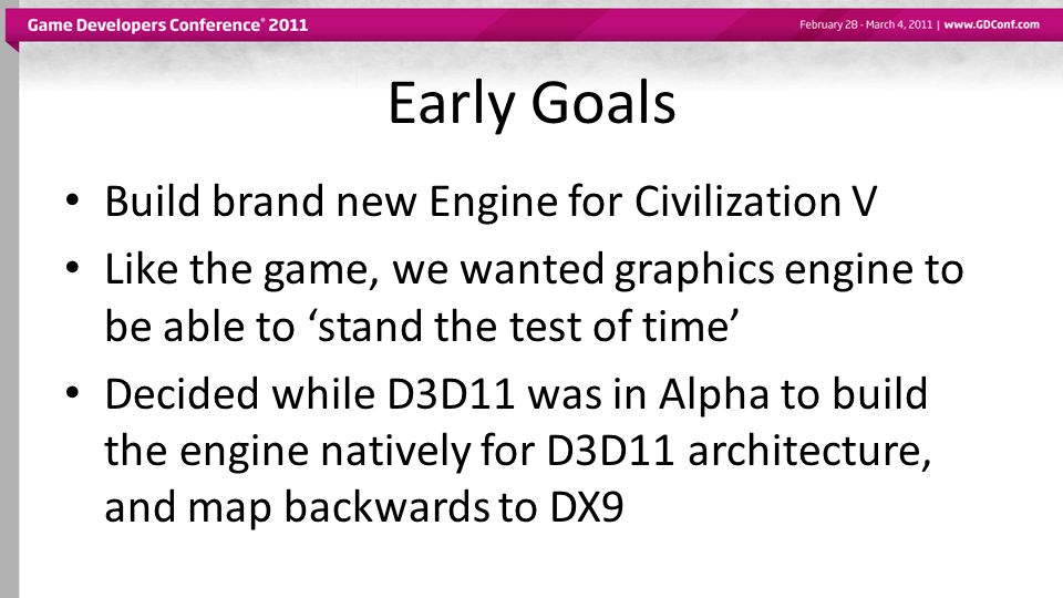 Early Goals Build brand new Engine for Civilization V