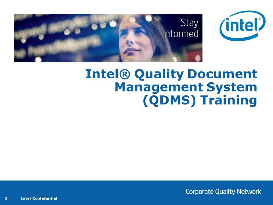 Intel® Quality Document Management System (QDMS) Training