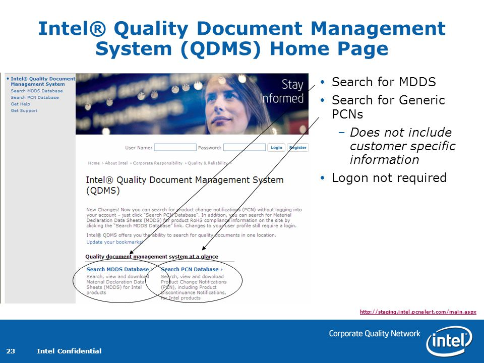Intel® Quality Document Management System (QDMS) Home Page