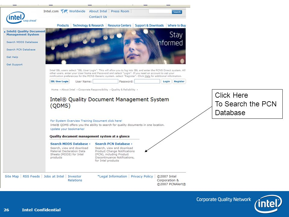 Click Here To Search the PCN Database