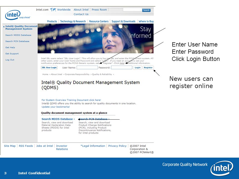 New users can register online