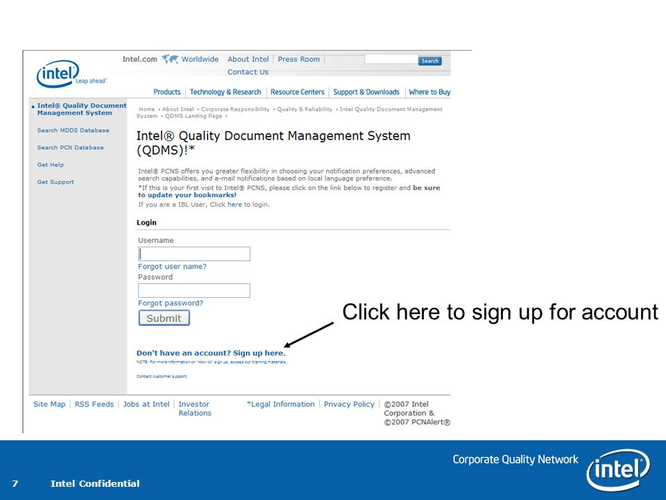Click here to sign up for account
