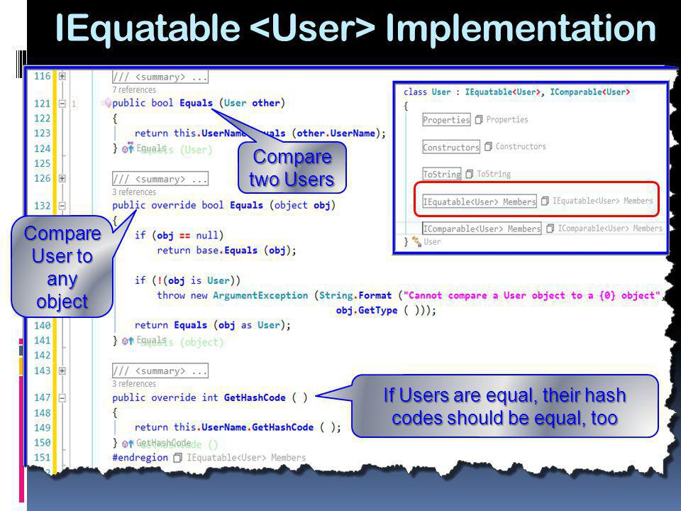 IEquatable <User> Implementation