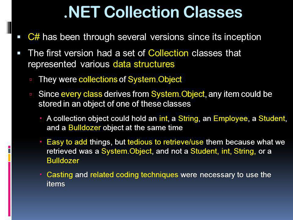 .NET Collection Classes