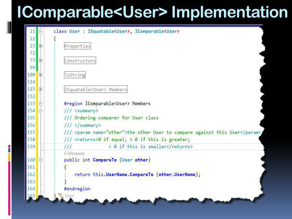 IComparable<User> Implementation