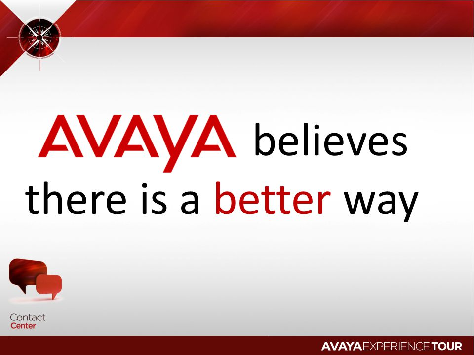 believes there is a better way © 2009 Avaya Inc. All rights reserved.