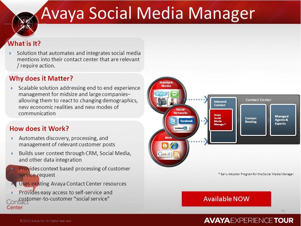 Avaya Social Media Manager