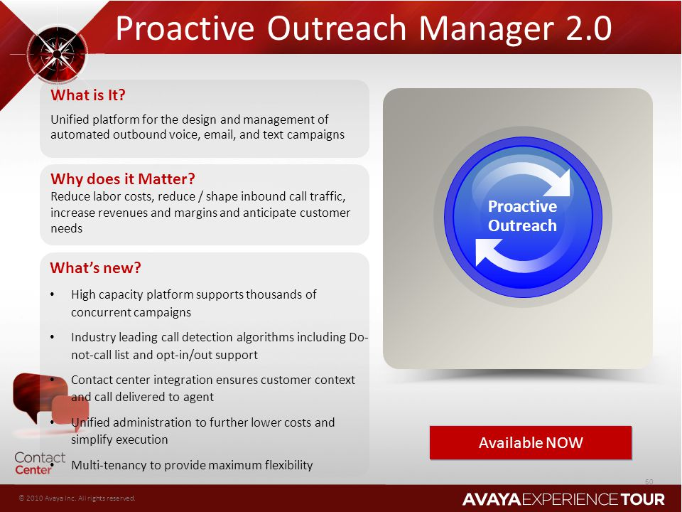 Proactive Outreach Manager 2.0