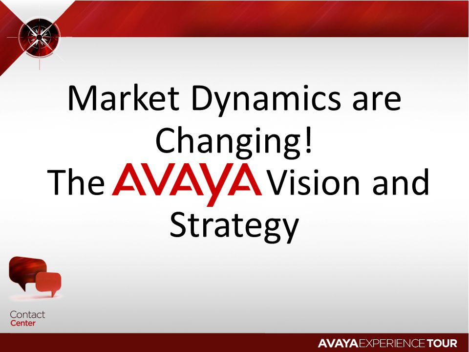 Market Dynamics are Changing! The Vision and Strategy