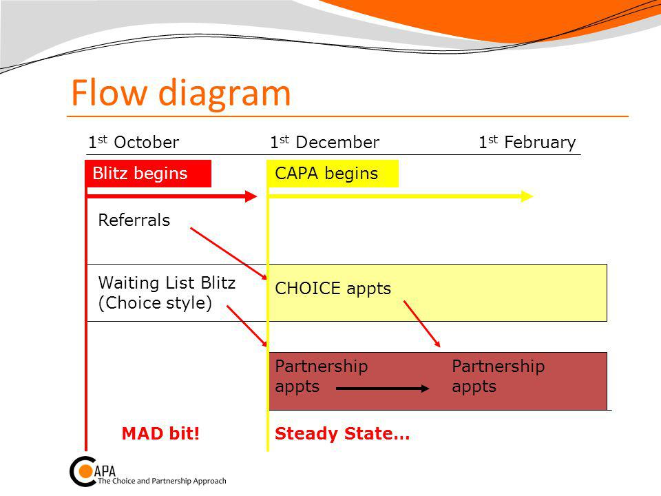 Flow diagram 1st October 1st December 1st February Blitz begins