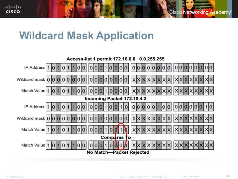 Wildcard Mask Application