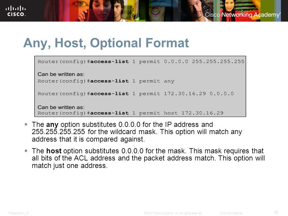 Any, Host, Optional Format