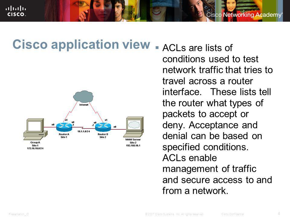 Cisco application view