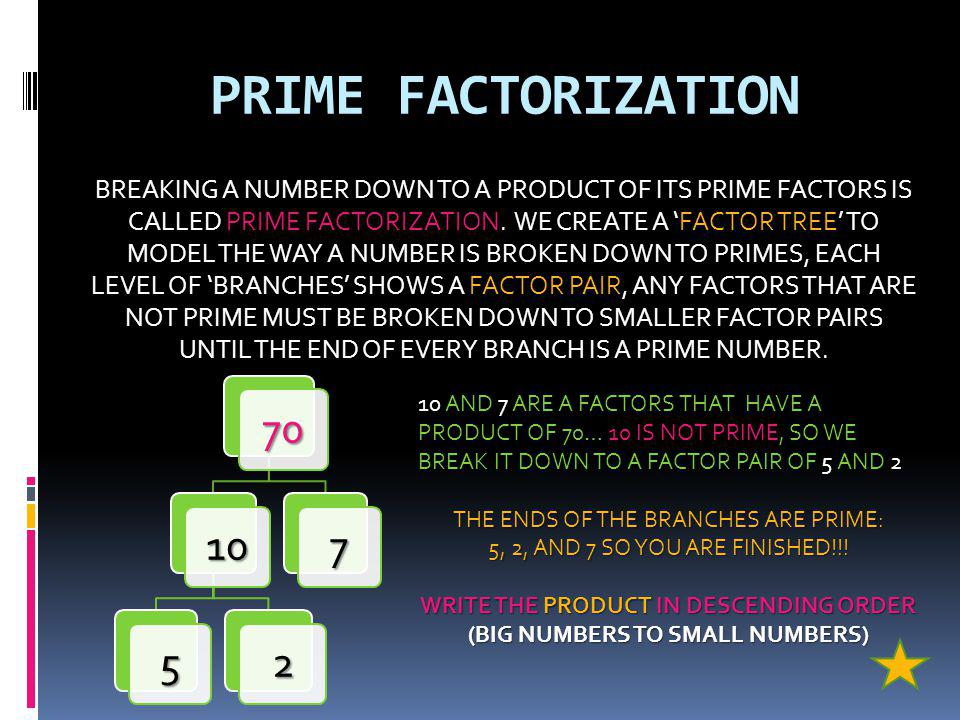 WRITE THE PRODUCT IN DESCENDING ORDER (BIG NUMBERS TO SMALL NUMBERS)