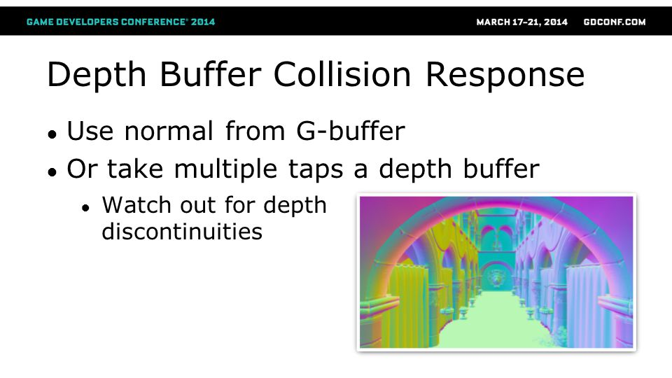 Depth Buffer Collision Response