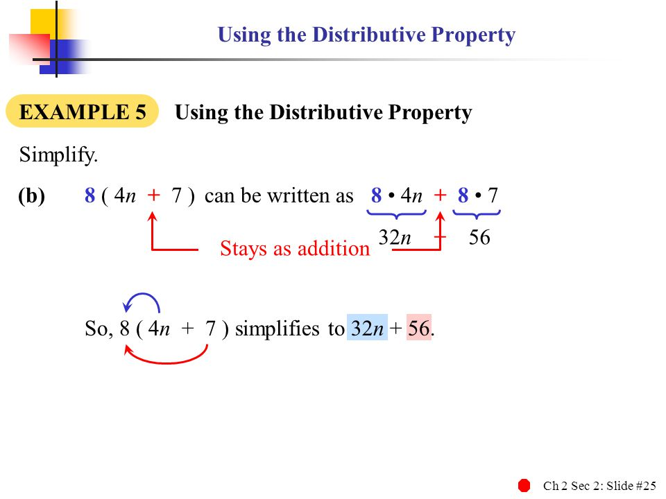 Using the Distributive Property