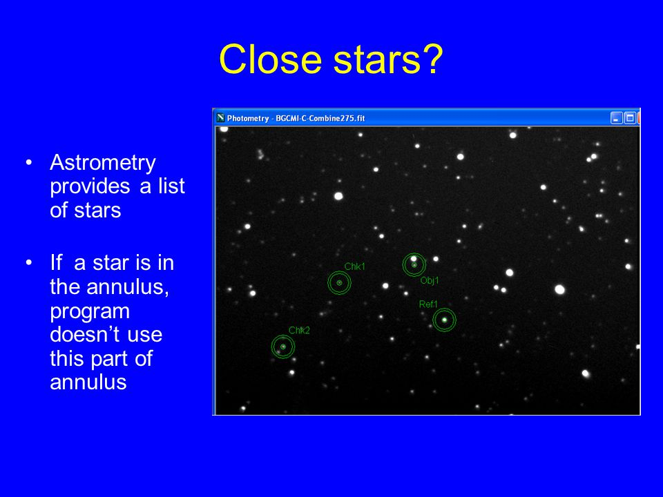 Close stars Astrometry provides a list of stars