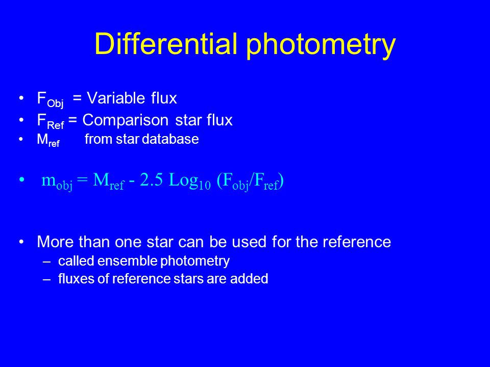 Differential photometry