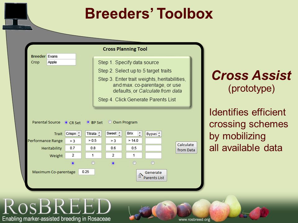 RosBREED Breeders' Toolbox Cross Assist (prototype)