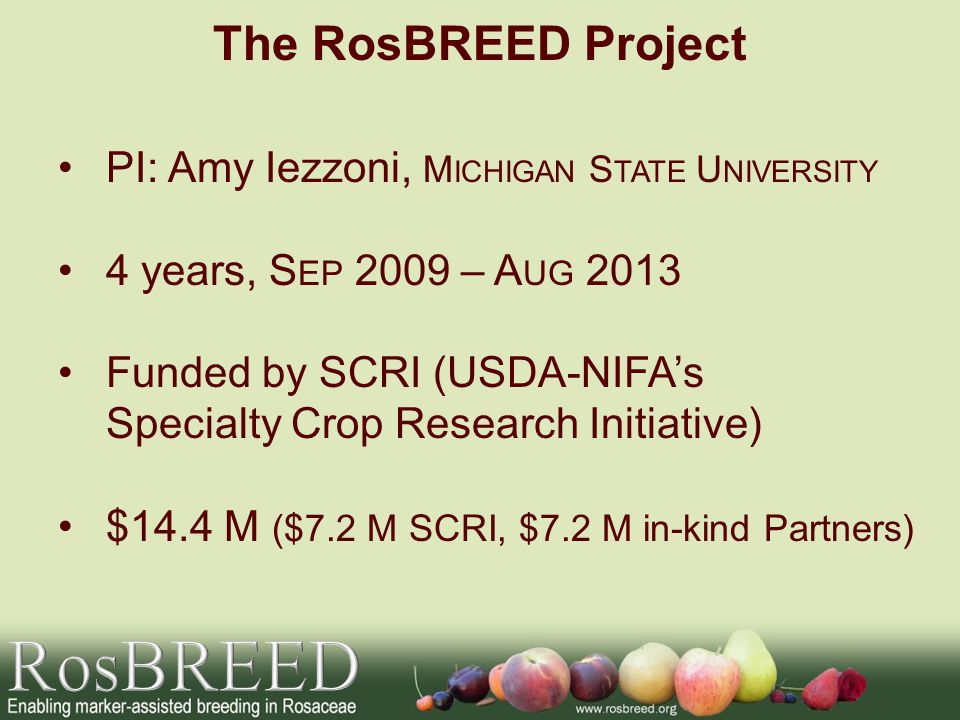 RosBREED The RosBREED Project