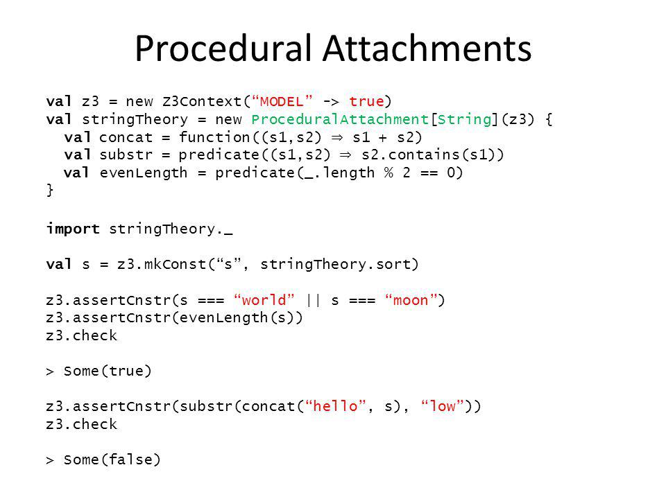 Procedural Attachments