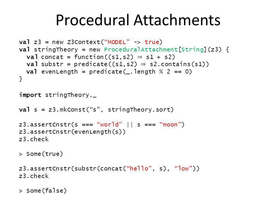 Procedural Attachments
