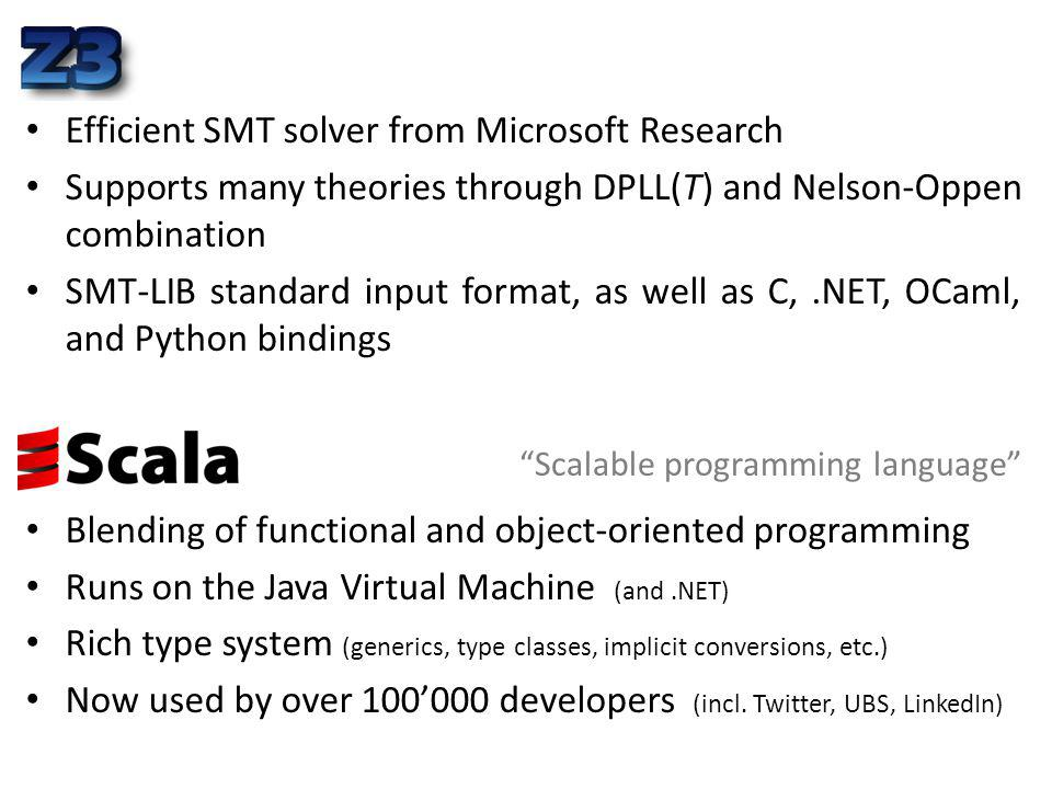Efficient SMT solver from Microsoft Research