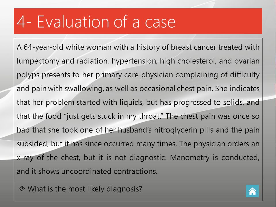 4- Evaluation of a case