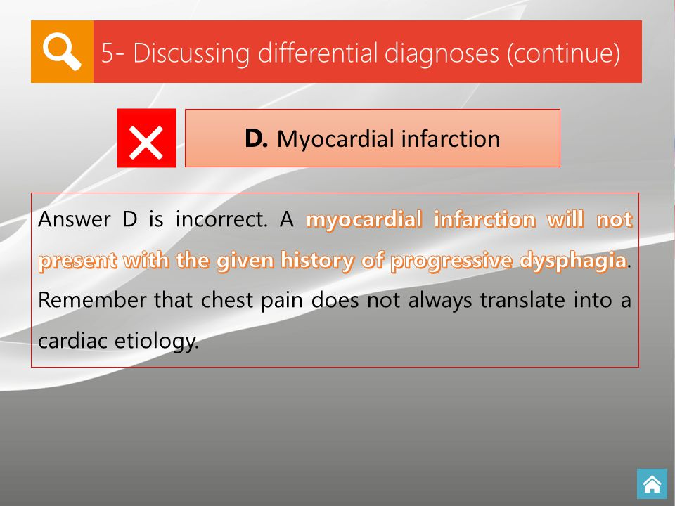 D. Myocardial infarction