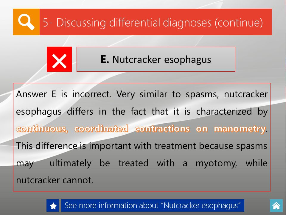 × 5- Discussing differential diagnoses (continue)