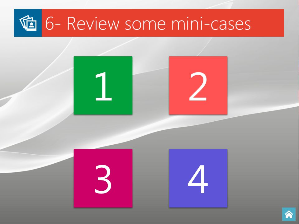 6- Review some mini-cases