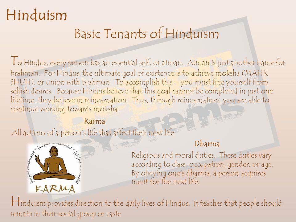 Basic Tenants of Hinduism