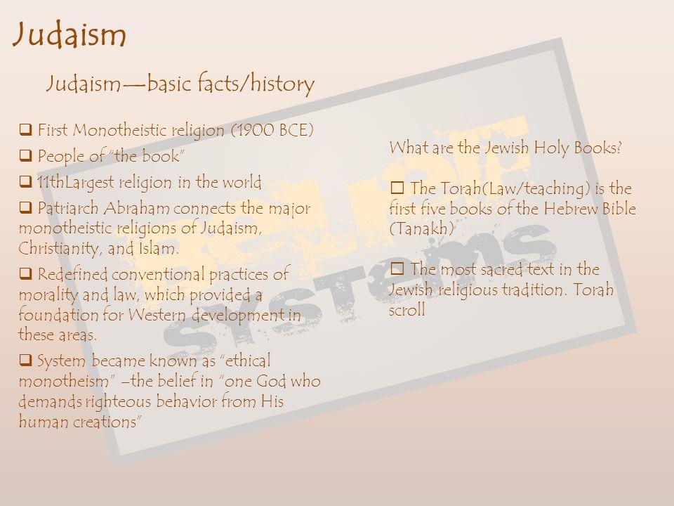 Judaism Judaism—basic facts/history