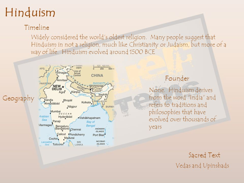 Hinduism Timeline Founder Geography Sacred Text