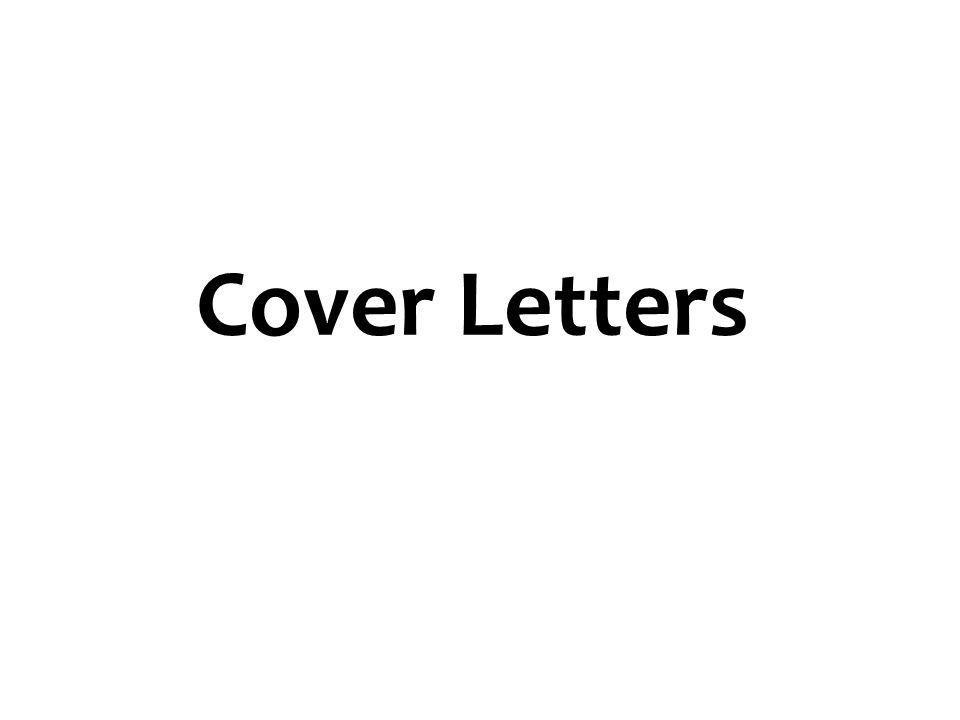 Cover Letters 16