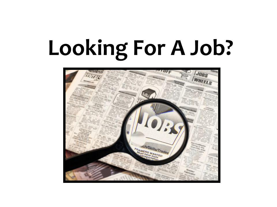 Looking For A Job 27