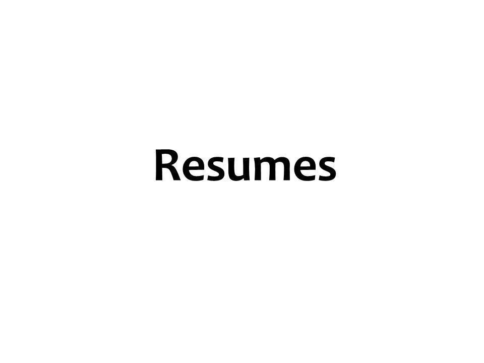 Resumes 3