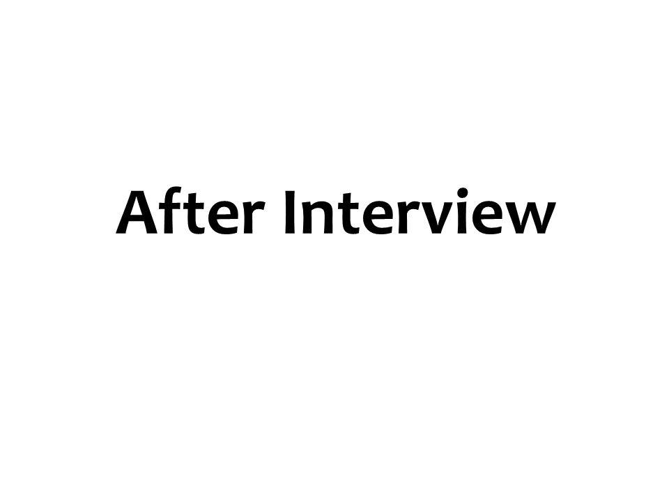 After Interview 62