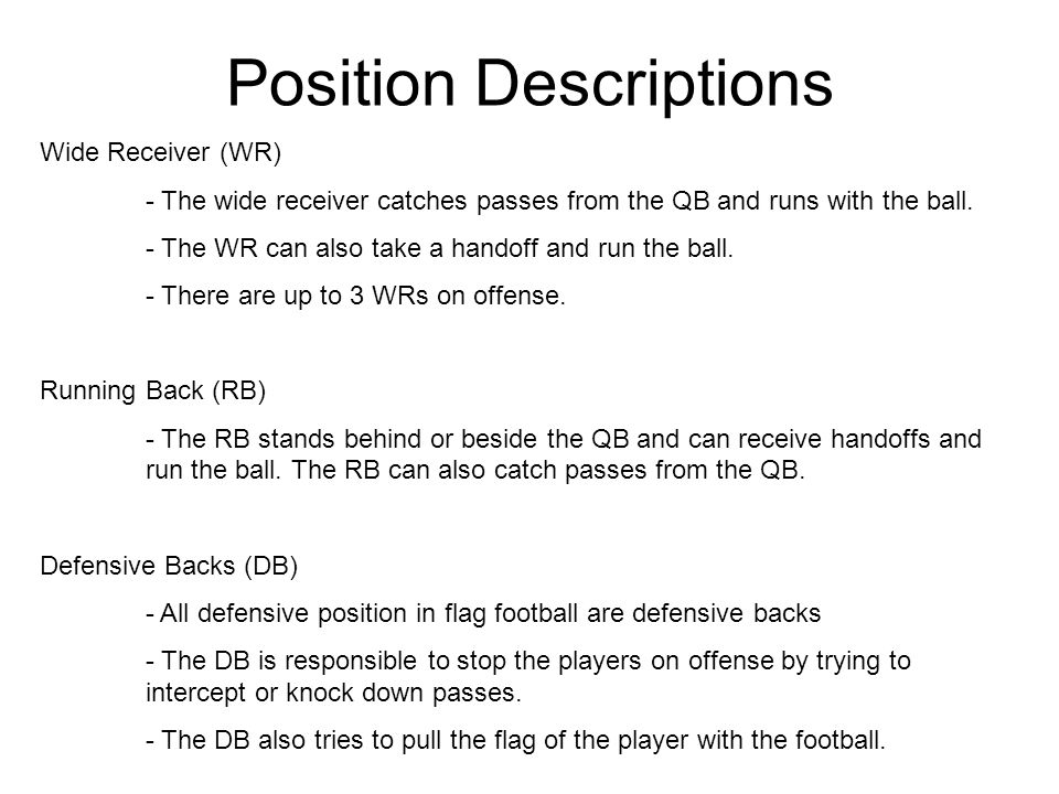 Position Descriptions