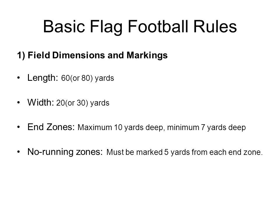 Basic Flag Football Rules