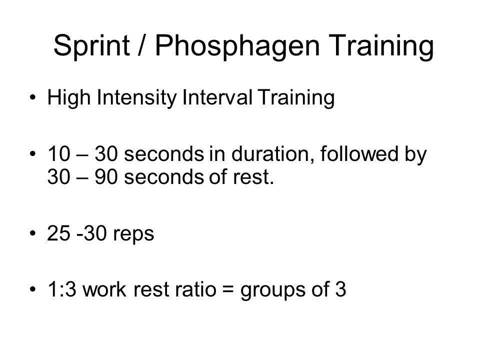 Sprint / Phosphagen Training