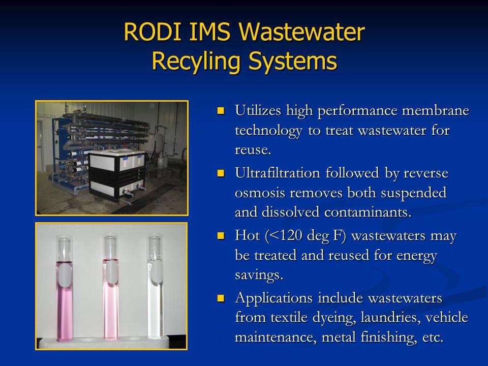 RODI IMS Wastewater Recyling Systems