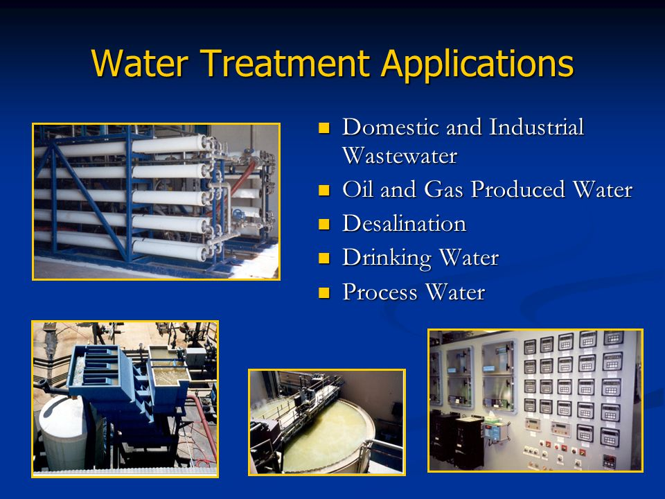 Water Treatment Applications