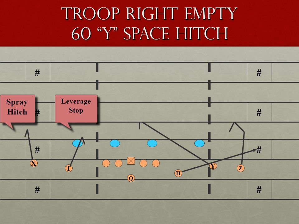 Troop Right Empty 60 Y Space Hitch