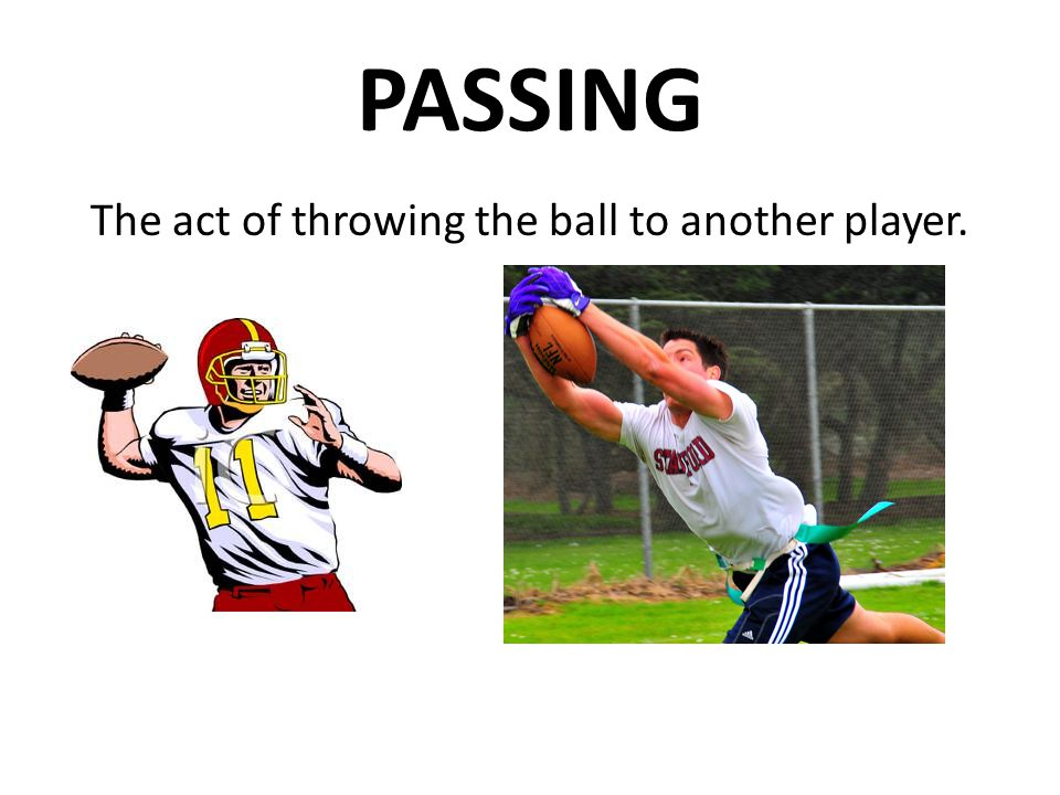 The act of throwing the ball to another player.