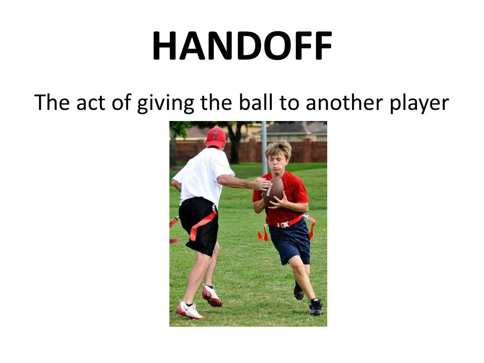 The act of giving the ball to another player