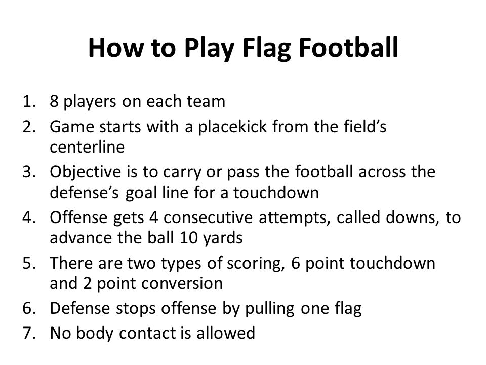 How to Play Flag Football