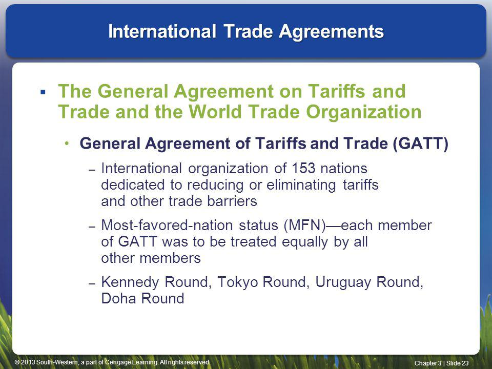 International Trade Agreements