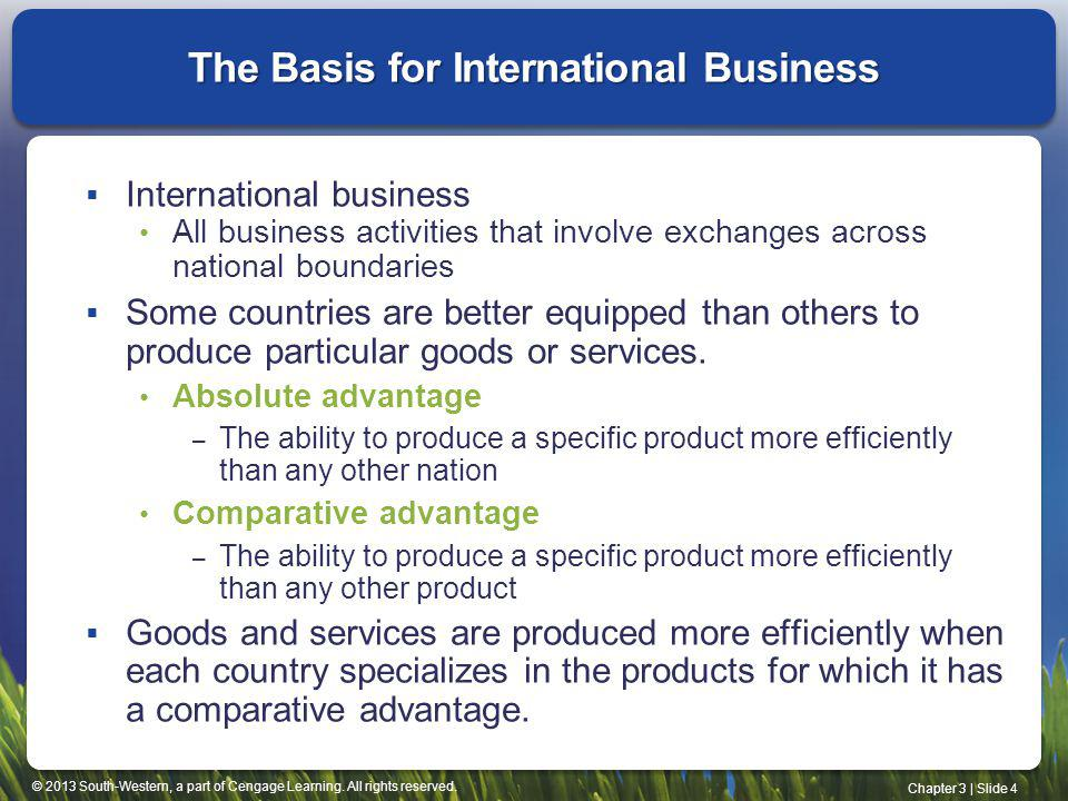 The Basis for International Business