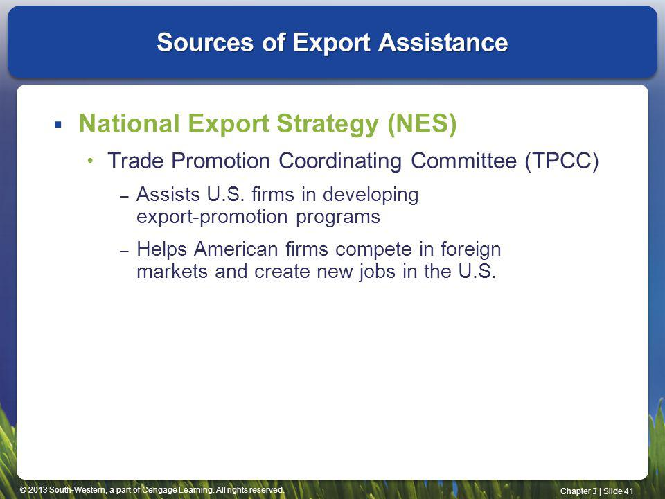 Sources of Export Assistance